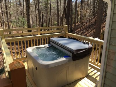 Photo for Relaxing Private Retreat, Hot Tub, Outdoor Fire & Dogs Welcome!