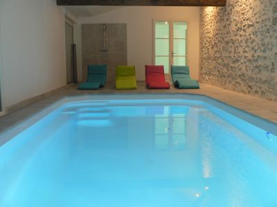 Photo for GITE 15 to 20 PERS / INDOOR SWIMMING POOL -SPA EXTERIOR A 15MIN DU PUY DU FOU