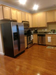 full kitchen, all appliances and pots, plates, etc