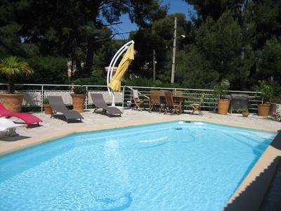 Photo for Villa Les Roches in Cassis with pool and parking, at the cove of Port Miou