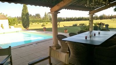 Photo for Luberon: farmhouse with pool, 5 bedrooms and bathrooms with private toilet