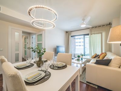 Photo for Exclusive apartment, swimming pool, garage, city center, 1. 3 km from the beach