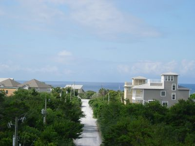 Panoramic views of the Gulf of Mexico.  This photo taken from the large balcony.