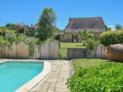 Photo for Authentic detached cottage with garden and private pool