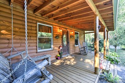 Private Cosby Log Cabin - Forested w/ Fire Pit! - Cosby