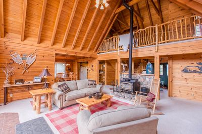 Main floor living space.  Welcome to the cabin!