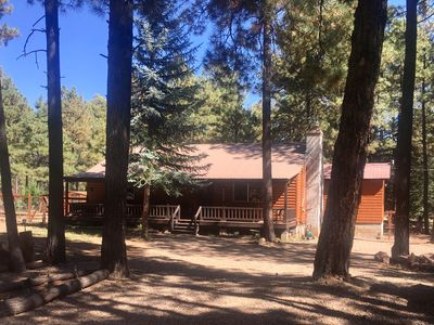 Photo for Cozy 2 BR + Den Cabin in cool pines of Forest Lakes