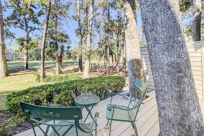 Deck - Tranquil setting overlooking the golf course. This home is professionally managed by TurnKey Vacation Rentals.