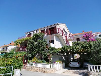 Photo for Holiday apartment 80 m from the beach with sea views