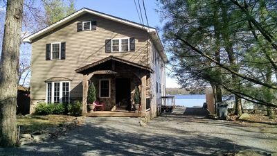 Photo for Twin Lakes Lakefront Home w/Private Beach & Docks - 6 Miles frm Milford PA
