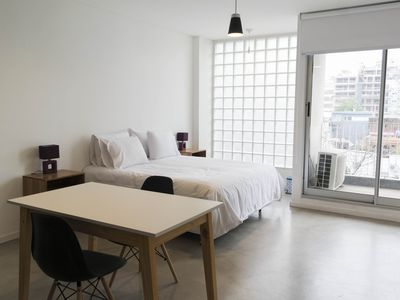 Photo for Bright & cool studio w balcony + free wifi + laundry @Palermo Hollywood