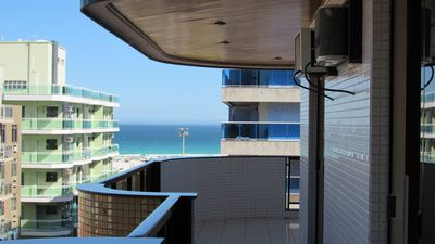 Photo for Balcony overlooking the beach of the fort !!!  3 Rooms / Being a suite.