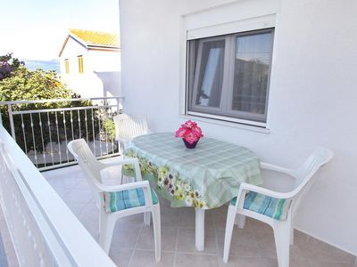 Photo for Two bedroom apartment with terrace and sea view Slatine, ÄŒiovo (A-972-a)