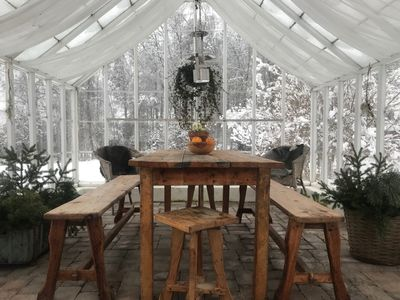 Photo for Romantic cottage with greenhouse near Isaberg!