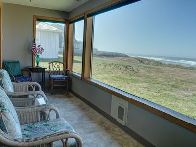 Photo for Beachfront pet friendly 3 bedroom vacation home in the heart of Lincoln City!