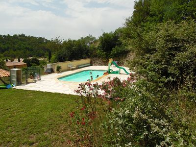 Photo for South facing villa (150m2), large plot, closed swimming pool, fully equipped