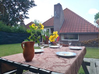Photo for Cozy vacation cottage. Grevelingen beach Herkingen. North Sea beach at 20 minutes.