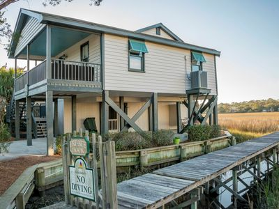Photo for Creekfront Family Cottage with Phenomenal Creek Views Short Stroll to Beach!