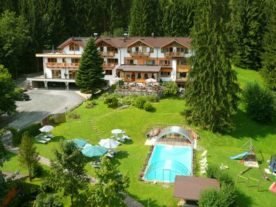 "Photo for The paradise near Kitzbühel - Apartment ""Hahnenkamm"" in the Garden Hotel Rosenhof"
