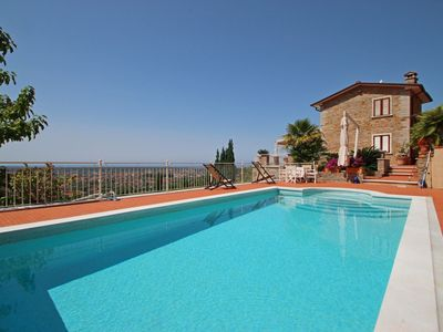 Photo for Villa for 9 People, Private Pool, Sea view, A/C, Whirlpool, SAT, WIFI, near Forte dei Marmi