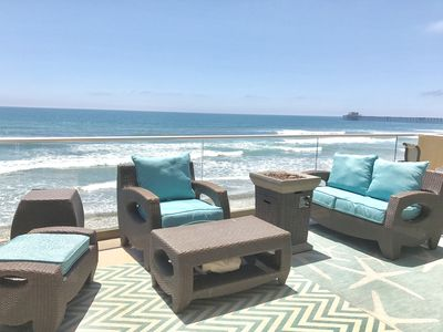 Photo for Family Perfect, Beachfront Vacation Villa,  Walk to Pier, Restaurants and Fun!