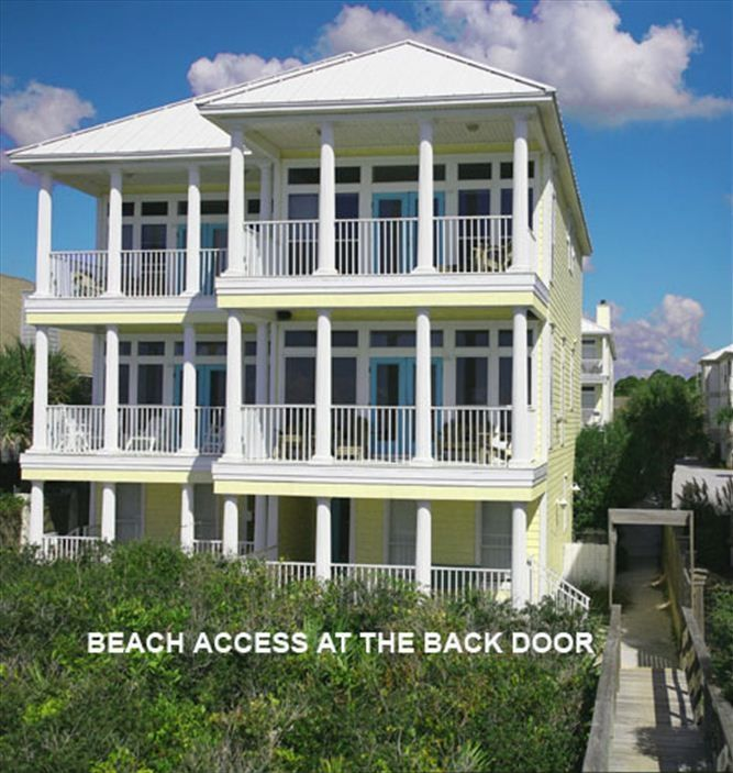 Panhandle Beach House Rentals: BeachFront+ Directly On Gulf+Pineapple Palace East+New