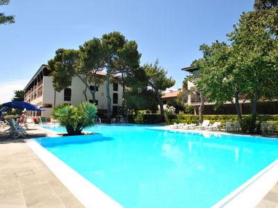 Photo for In vacation residence on the sea, with swimming pool, studio with 2/3 beds, on the ground  floor wit