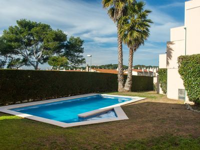 Photo for Costabravaforrent Pedro, semi-detached house for 6, 200m from the beach, communal pool