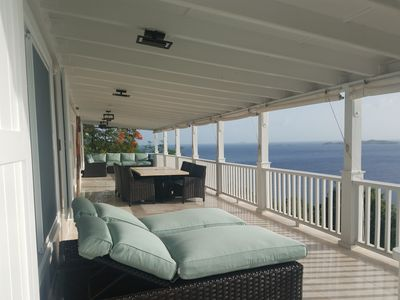 50 foot veranda with spectacular 180 degree view!