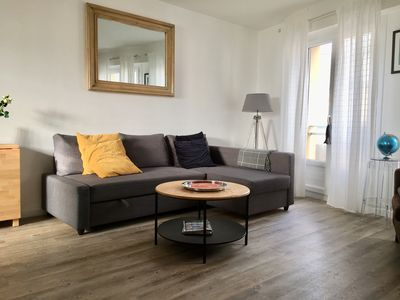 Photo for T2 renovated in 2018 50m from the beach, in the heart of Coutainville.