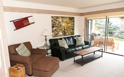 Photo for Updated condo with contemporary rustic décor -- walk to Warm Springs lifts