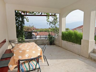 Photo for Two bedroom apartment with terrace and sea view Postira, Brač (A-3244-c)