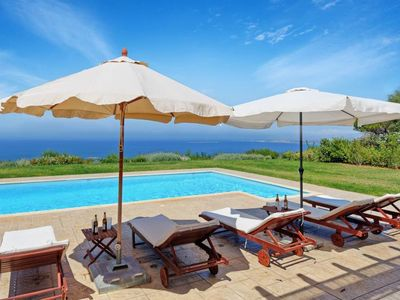 Photo for 4 bedroom Villa, sleeps 9 in Lakíthra with Pool, Air Con and WiFi
