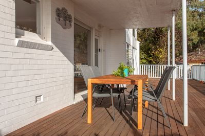 Deck and outdoor seating