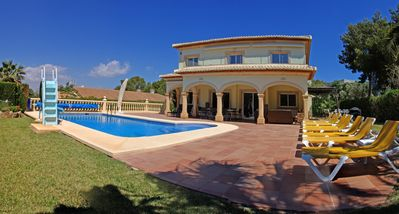 Photo for Villa Delfino, stunning 4 bed,3 barth ,private pool ,FREE WIFI and aircon
