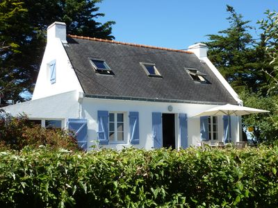 Photo for Attractive Breton house with front and rear views of the sea and near beach