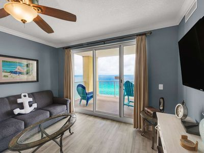 Photo for FREE BEACH SERVICE! Huge Corner Unit! Wifi included! Free Tickets to Gulf World! Ocean Reef 17th FL
