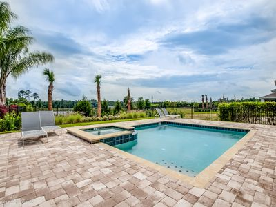 Photo for Beautiful pool home with BBQ just 10 min. from Disney!