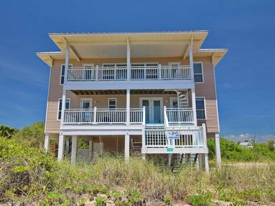 "Photo for No Storm Damage! New to VRBO! Private pool, West Gulf Beaches 4BR/4.5BA. Steps to the beach, Free Beach Gear, Wifi, ""Blue Bicycle Beach House"""