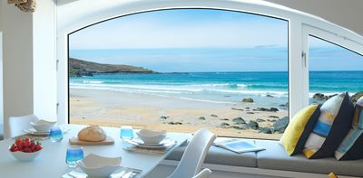 Incredible Beach Apartment With Parking Situated On Porthmeor Beach St Ives In Cornwall Saint Ives Interior Design Ideas Gentotryabchikinfo