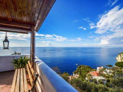 Photo for Apartment on the hills with private terrace and sea view for a relaxing holiday