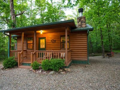 Photo for Whispering Woods Cabin(1 Bdrm)  (Hot Tub)