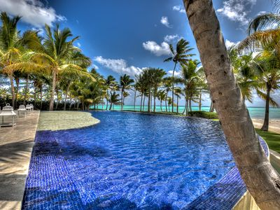 Photo for Treehouse Inspired Beachfront Estate, Huge Pool, 5-Star Amenities, Chef/Butler, AC, Free Wifi
