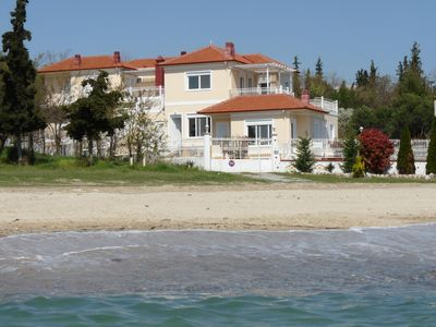 Photo for Seafront Holiday Home No 1 On a Long Sandy Beach, GeoMare No 1