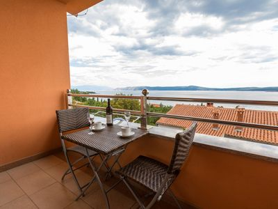 Photo for Holiday apartment with modern facilities, balcony and sea view