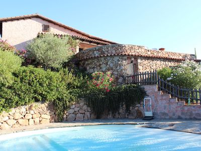 Photo for Villa with pool at mt. 300 from the beach in northern Sardinia