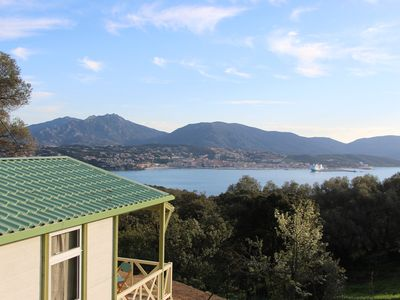 Photo for Mobile home sea view (gulf of valinco) 5pers