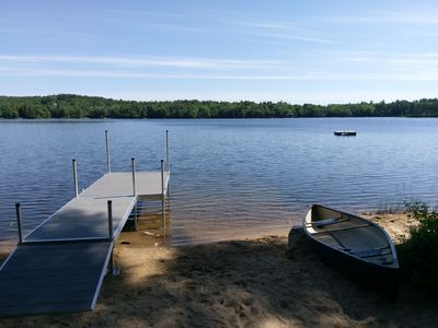 All new dock and Private Beach - Canoe, 2 kayaks and pedal boat included!