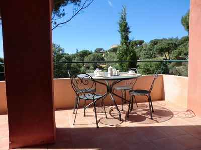 Photo for issambres secure residence, quiet, with swimming pool, 800 meters from the sea
