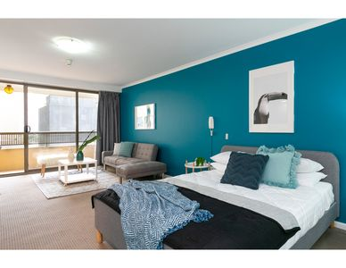 Photo for Striking and super convenient studio with balcony